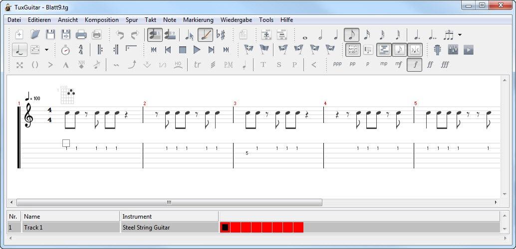 Tools für Gitarristen – TuxGuitar
