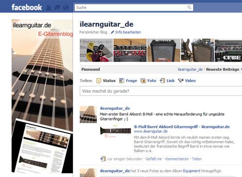 Das ilearnguitar Blog hat ab sofort eine eigene Facebook Seite - gefällt es Euch?