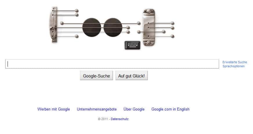 Gitarrenlegende Les Paul bekommt Google Doodle