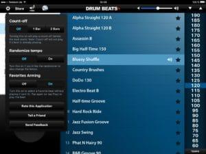 Drum Beats+ App bietet zahlreiche Einstellungen