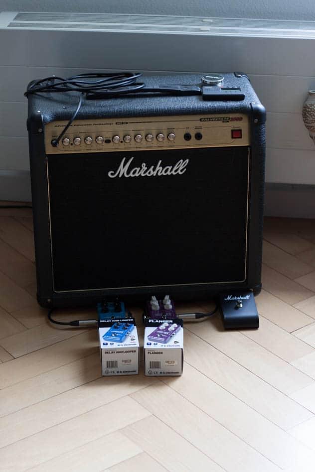 Marshall Verstärker mit neuen Effektgeräten